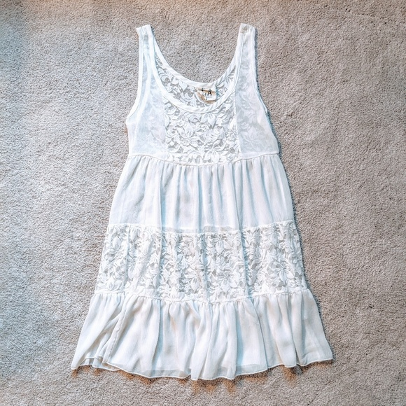 PPLA Dresses & Skirts - 3 for $19 🔥 Sheer lacy white dress
